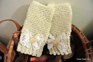 Crocheted Hand Warmers from Timber Creek Farm