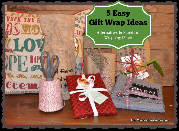 Easy Gift Wrap Ideas