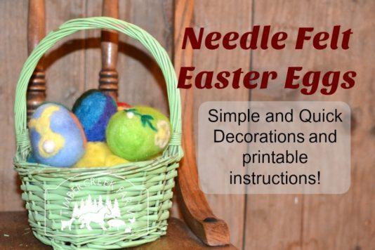 needle felt easter eggs