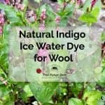 Natural Indigo Ice Water Dye for Wool