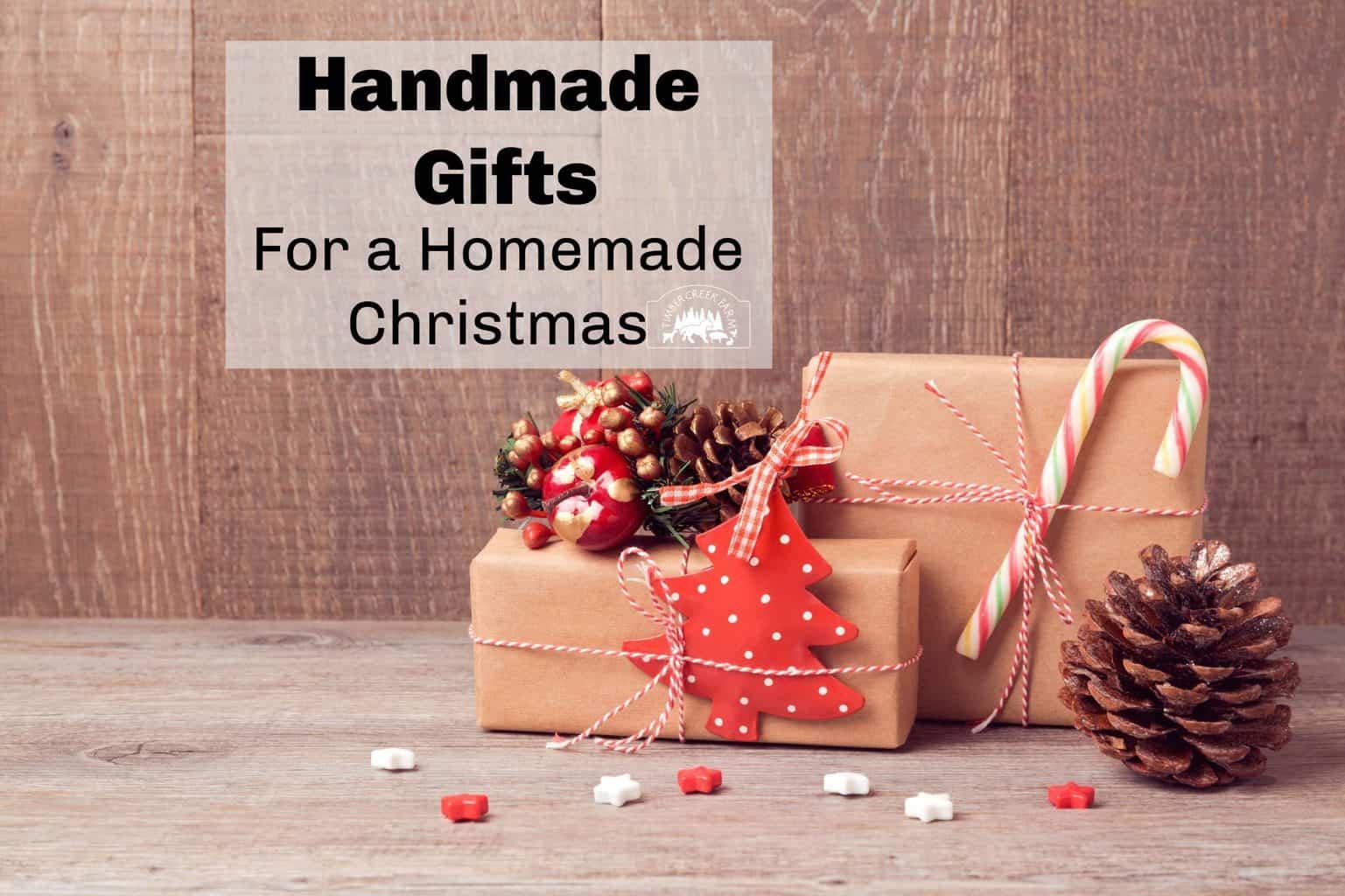 handmade gifts for a homemade Christmas