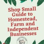 Shop Small Guide for Homestead and Independent   Businesses